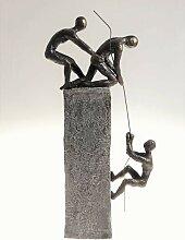 Skulptur Dekoobjekt ASSISTANCE Poly grau braun