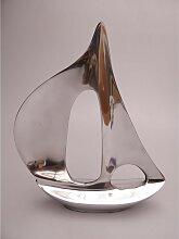 Skulptur, Dekoobjekt BOOT Schiff Aluminium poliert