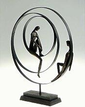 Skulptur, Dekoobjekt PATIENCE, Poly, Bronzeoptik,