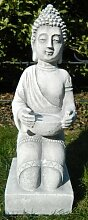 Skulptur Dekoskulptur Beton Figur Buddha knieend H