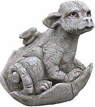 SKULPTUR DRACHEN BABY Saraphir Figur Steinguss