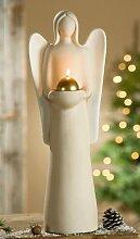 Skulptur Engel LUCIA mit Teelichthalter Sculpture
