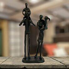 Skulptur Familienausflug Garten Living