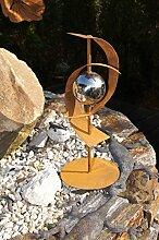 Skulptur Futura Edelrost Rost Metall Gartendeko auch für Säule