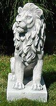 Skulptur Gartenfigur Beton Figur Löwe rechts