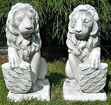 Skulptur Gartenskulptur Beton Figuren Löwen mit
