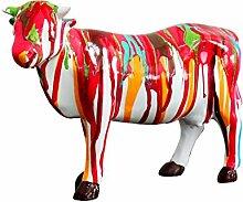 Skulptur Kuh Dekoration, mehrfarbig–Style Design Moderne Zeitgenössische