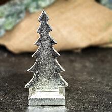 Skulptur, Weihnachtsbaum, Metall, Nickel