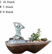 Skulpturen Tischbrunnen,Desktop-Wasserfall