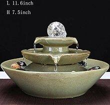 Skulpturen Tischbrunnen Keramikwasserbrunnen