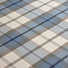 Sky Balmoral Wolle Effekt waschbar Dick Tartan Designer Stoff ideal für Vorhänge, Rolladen Light to Medium Polstermöbel Kissen und vieles mehr–Verkauft Meterware