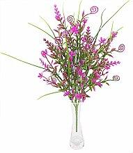 sky-city Künstliche Blumen Pflanzen, Gras Fake Blättern Simulation Greenery Wand Zubehör Home Garten Büro Hochzeit Blume Dekoration Künstliche Blumen 5Stück rose