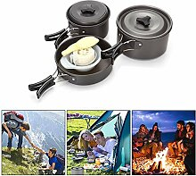 Sky God Camping Kochgeschirr Set, Portable Outdoor