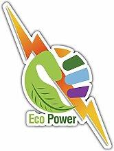 SkyBug Hand Eco Power Bumper Sticker Vinyl Art
