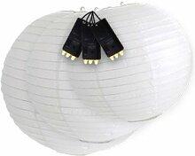Skylantern Original 1797 Lampion aus Papier, Kugel, mit 3 LEDs, Weiß