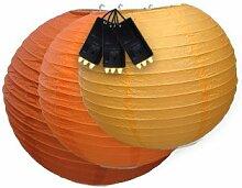 Skylantern Original 1799 Lampion aus Papier, Kugel, mit 3 LEDs, Orange