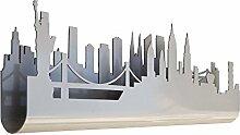 Skyline 3.03Hakenleiste Wanddekoration aus Holz,