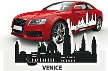 Skyline Aufkleber für das Auto Sticker Venedig