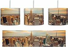 Skyline von New York inkl. Lampenfassung E27,