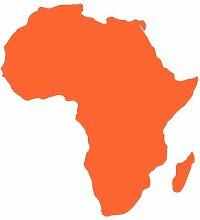 Skyline4u Afrika Aufkleber in 7 Größen und 25 Farben (23x25cm orange)