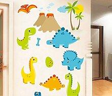 Skyllc® Cartoon Dinosaurier niedlich Q Version Tierpark Home Decoration Sticker Wandtattoos Kinderzimmer Tapete