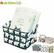 skyram (TM) actionclub Desktop Aufbewahrung Organizer Boxen mit Griff Home & Office Dest faltbar Organizer Supplies Wasser Proof PU Material 1