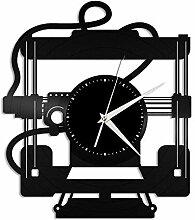 SKYTY 3D-Drucker Vinyl Wanduhr-Retro Vinyl