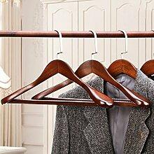 SL&VE Massivem holz kleiderbügel, Extra breite schulter anzug kleiderbügel, Beflockung Mit eingelegten hose bar 4er-set-D