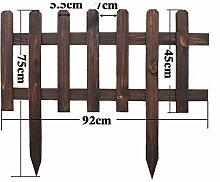 SL&ZX Anti-korrosions-Holz Zaun,Gartenzaun Garten