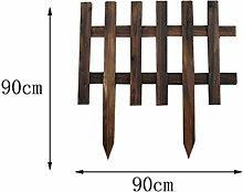 SL&ZX Holz-Zaun,Im Freien karbonisiert gartenzaun