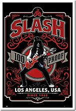 Slash Whiskey Label Poster Kork Pinnwand Memoboard
