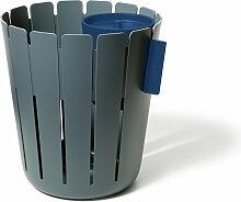 Slawinski & Co. GmbH Konstantin Slawinski - SL17 Basketbin Mülleimer-System, quarzgrau / blau (2 Tlg.)