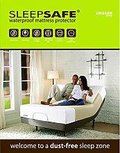 """Sleep Safe Home Leinen Wasser Proof Matratze Bett Displayschutzfolie Bezug, Einzelbett-Größe Grau Farbe–""""91,4x 182,9x 30,5cm von maxxgallery"""