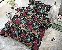 SLEEP TIME Bettwäsche Baumwolle Japanische Rosen,