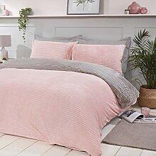 Sleepdown Bettwäsche-Set aus geripptem Fleece,