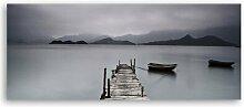Sleepeng Lake - Panorama-Fotodruck auf Leinwand