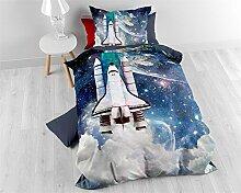 SleepTime Bettwäsche Baumwolle Kinder Astronaut,