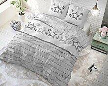 SleepTime Bettwäsche Baumwolle Sterne, 240cm x
