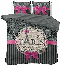 Sleeptime Bettwäsche I Love Paris Pink -