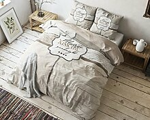 SleepTime Bettwäsche Kiss Me Sand 200x 200cm