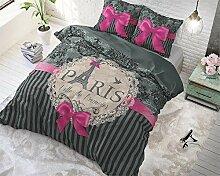 SleepTime Bettwäsche Love Paris Text/Romantisch 2