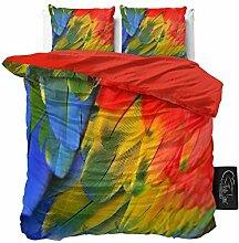 SleepTime Bettwäsche Parrot, 160cm x 200cm, Mit 2