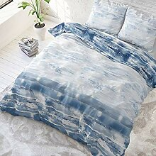 SleepTime Bettwäsche Shibori Tiles Blau Modern