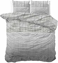 SleepTime Bettwäsche Wood Fabric Grau Modern 1