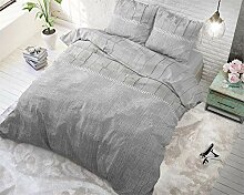 SleepTime Bettwäsche Wood Fabric Grau Modern Lits