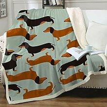 Sleepwish Süße Überwurf-Decke mit Hunde-Design,