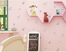 SLGJYY-Kinderzimmer Tapete Cartoon 3D Gepresst