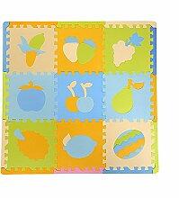 SLHP Puzzlematte EVA Schaumstoffmatte Baby Soft Foam Spielteppich für Kinder Spielmatte Puzzle Playmat Schaumstoff Kinderteppich (Obst 1)