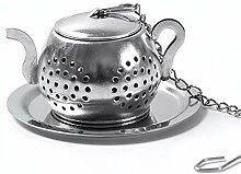SLHP Teesieb aus 304 Edelstahl, Tee-Ei mit Kette