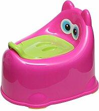 SLHP Toilettentrainer Baby Potty Lerntöpfchen Toiletten-Trainer Kindertoilette Kleinkind Töpfchen und Fußbank Kinder Hocker (Rosa)